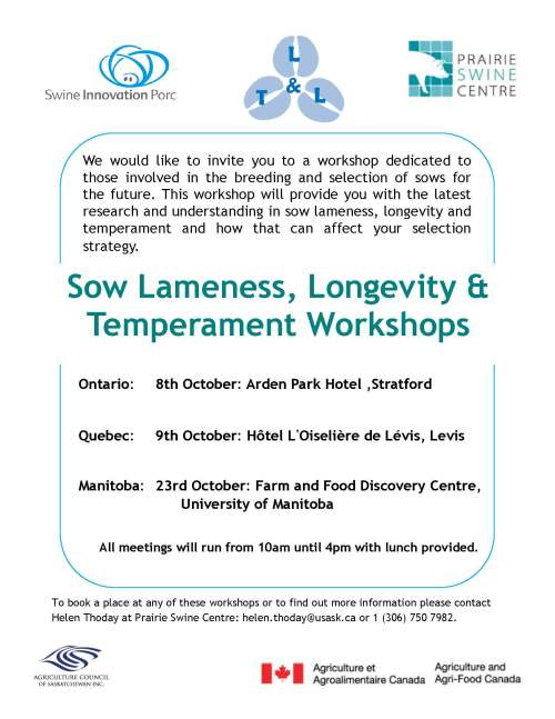 sow lameness workshop details