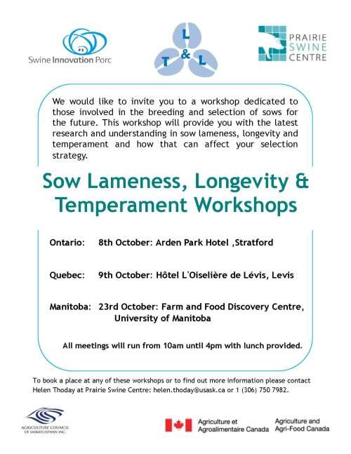 sow lameness workshop details